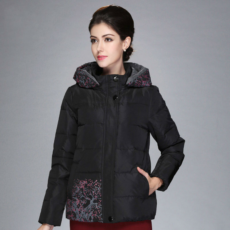 Middle Aged Short Down Jacket Women Plus Size 5xl Winter Coat Women Puffer Jackets Loose Warm Parka Chaqueta Mujer KJ554