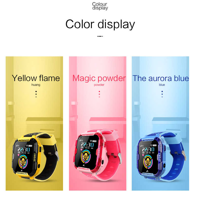 LIGE 4G children's videophone watch GPS + LBS + WIFI smart watch with pedometer sleep monitoring camera music playback function