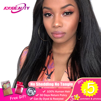 Straight 13x4 Lace Front Wigs For Black Woman Pre Plucked Hairline 130% Density Brazilian Unprocessed Remy Virgin Human Hair
