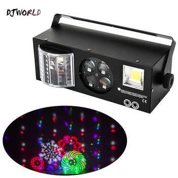 DJWORLD LED Laser Strobe 4in1 DMX Stage Effect Lights For DJ Disco Dance Floor Party Lighting Laser Projector - DISCOUNT ITEM  15 OFF Lights & Lighting
