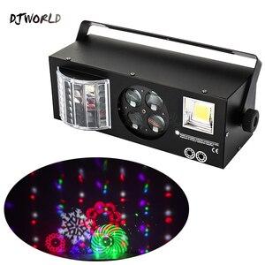 Image 1 - Djworld led laser estroboscópio 4in1 dmx efeito de palco luzes para dj discoteca dança piso festa iluminação laser projetor