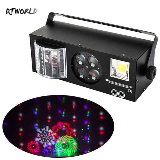Djworld led laser estroboscópio 4in1 dmx efeito de palco luzes para dj discoteca dança piso festa iluminação laser projetor