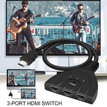3 Port HDMI Switch 3x1 Switcher Splitter Cable Support Ultra HD 1080P