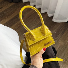 Brand Stone Pattern Purses And Handbags leather Designer Women Shoulder Crossbody Bag Small Strap Evening Clutch 2019 Mini Totes(China)