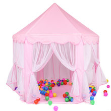 Maison de jeu tente jouets balle Pit piscine Portable pliable princesse tente pliante château cadeaux tentes jouet pour enfants enfants fille