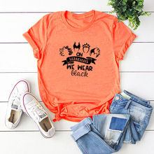 цена на graphic tees women halloween pumpkin print 90s tops woman clothes aesthetic vintage plus size casual print o-neck punk pink
