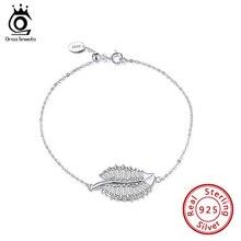 Bracelet Jewelry Women Gift Zircon Silver ORSA 925-Sterling-Silver Charm Wrist-Chain