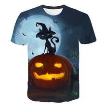 2020 feliz dia das bruxas 3d manga curta gravada t camisa de abbora rosto t-shirts impressão camisetas-6xl