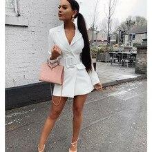 купить New Autumn Women Retro Slim Fitness Long Sleeve Blazer Coat Button Casual Outwear Jacket Ladies Double Breasted Lapel Blazer дешево