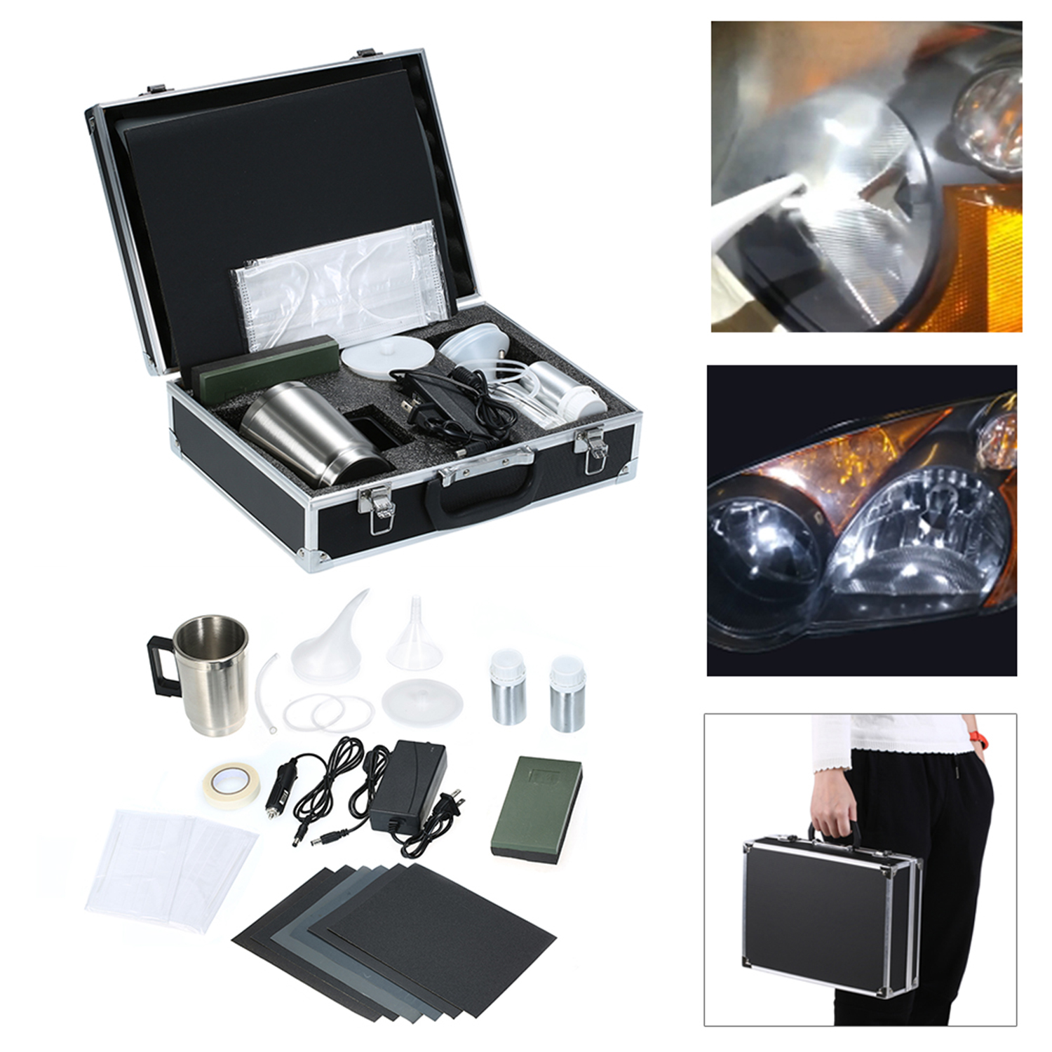 Automobile Headlight Restoration Kits Car Headlight Polish Repair Tool Glass Scratch Repair Headlight Renovation