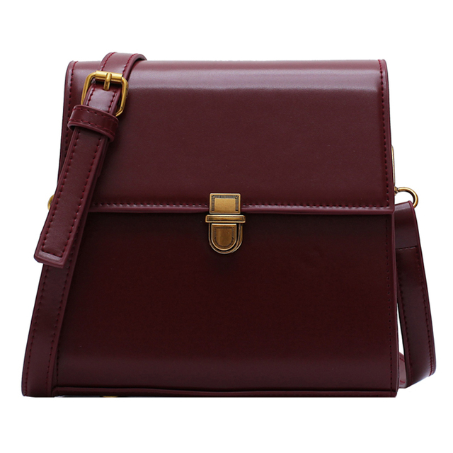 Simple Style Vintage Leather Crossbody Bags For Women