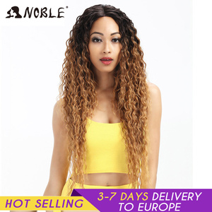 Image 1 - Noble Hair Synthetic Lace Front Wig Long Wavy Hair 30 Inch Blonde Wigs For Black Women Ombre Hair Synthetic Lace Front Wig