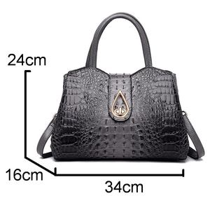 Image 5 - DIINOVIVO Vintage Crocodile Ladies Handbags High Quality PU Leather Women Shoulder Bags Famous Brand Crossbody Bag New WHDV1225