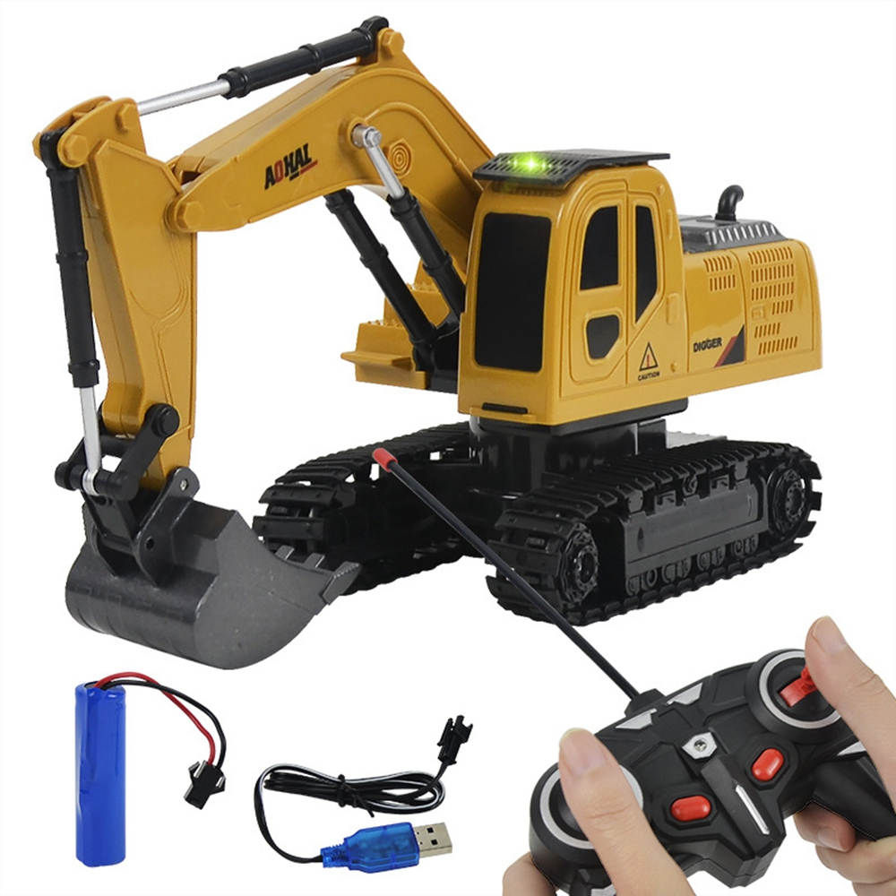 Remote Control Construction Vehicle Excavator Crane Toy 4 Channal Telecontrol Engineering Vehicle RC Toys Gifts For Kids|RC Trucks| | - AliExpress