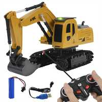 Remote Control Construction Vehicle Excavator Crane Toy 4-Channal Telecontrol Engineering Vehicle RC Toys Gifts For Kids