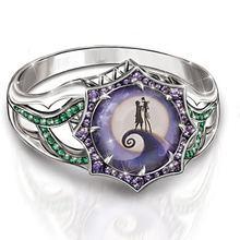 Женская мода 925 пробы Серебряное кольцо из циркона для Хэллоуина