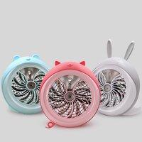 Spray Usb Fan Desktop Rechargeable Folding Fan Spray Humidification Mini Gift Small Fan|Fans| |  -