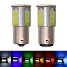 цена на 2pcs Car Lights Canbus Brake Light 1156 P21W BA15S 1157 P21/5W BAY15D Auto Turn Signal Lamp Socket Cob LED S25 12V COB hot sale