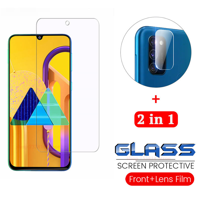 2-in-1 2.5D Screen Protector + Camera Glass For Samsung M30s   Tempered Glass Lens Film On Galaxy M30s Protective Class SM-M307F