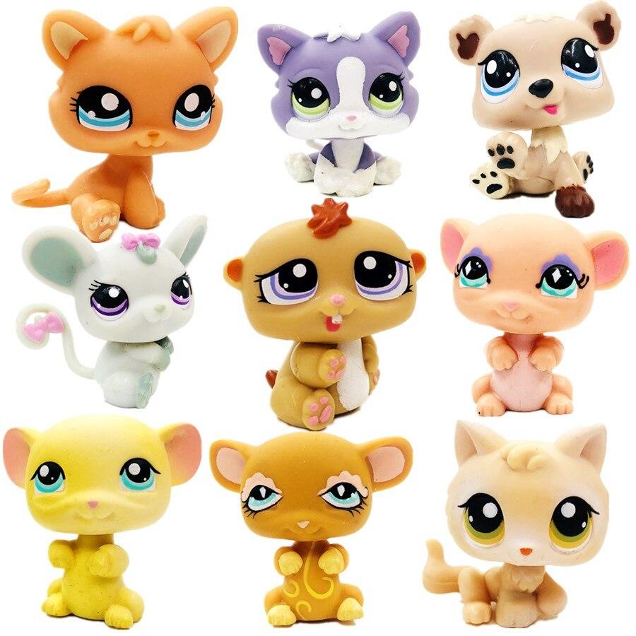 Original 5cm Cute Little Mouse Lovely Cat Little Monkey Cute Toys Lovely Pet Animal Shop Figure Littlest Doll Gift Girl Toy