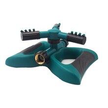 цена на Lawn Sprinkler Garden Sprinkler , Automatic 360 Rotating Adjustable Large Area Oscillating Sprinkler Easy Hose Connection.
