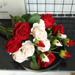 1PCS Wedding Rose Artificial Flowers DIY Fake Flower Party Home Decor Wedding Decoration Valentine's Day Artificial Flower