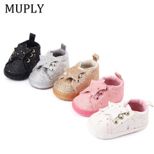 Baby Shoes Sweet Casual Princess Girls Baby Kids Star Solid Crib Bebes Infant Toddler Cute Ballet Mary Jane Shoes