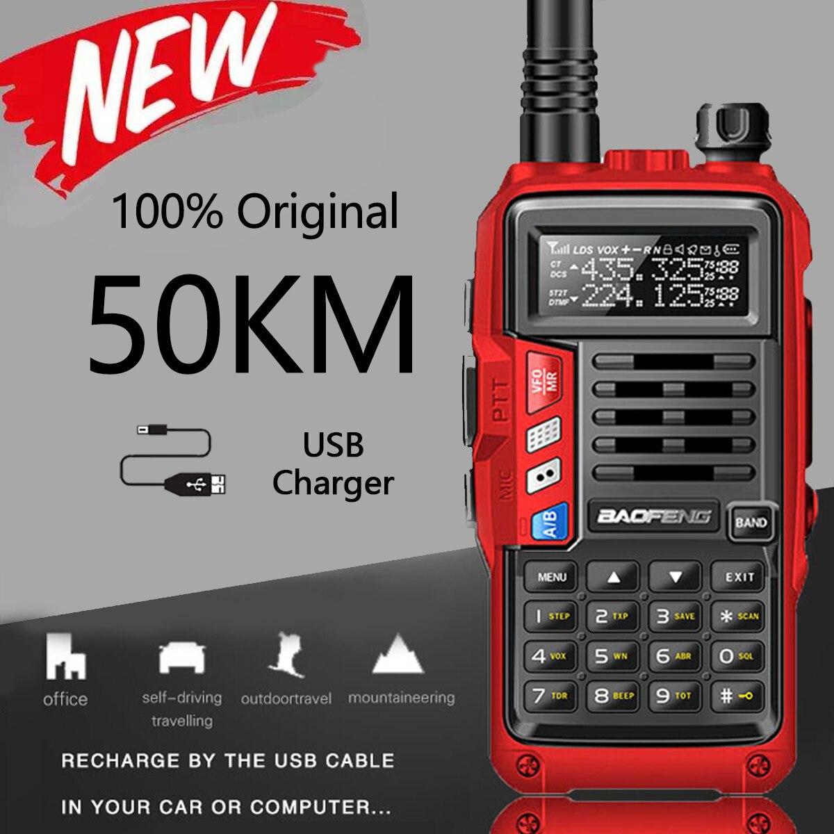 2021 BaoFeng UV-S9 плюс 10 Вт Портативный иди и болтай Walkie Talkie 50 км дальность Ham радио приемопередатчик вверх baofeng uv-5r двухстороннее радио