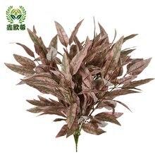 Xin ou grego folhas artificiais folha falso eucalipto folhas pequena única decoração para casa mei chen folha verde