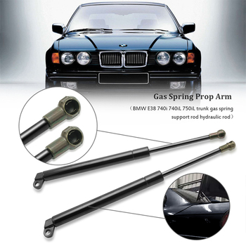 2Pcs Rear trunk Lift Gas spring Support Struts Shock Springs Prop Rod Lift gate strut For BMW E38 740i 750iL 740iL 1994-2001 image