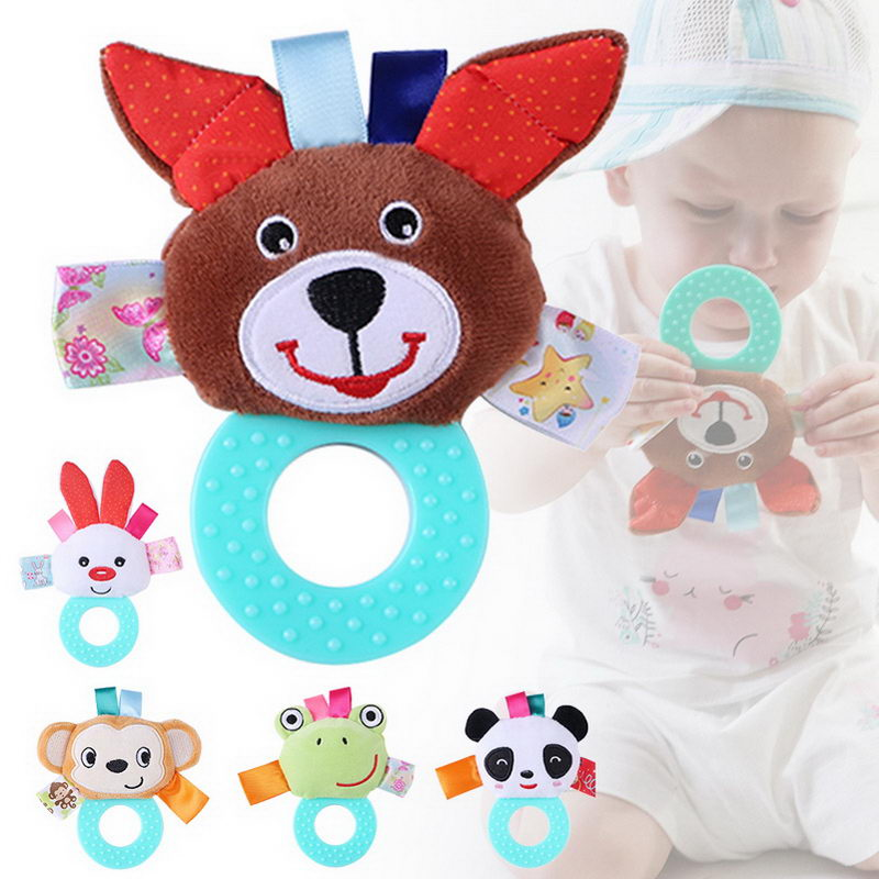 Soft Baby Rattle Animal Doll Bedroom Toy Non-toxic Newborn Baby Toddler Early Childhood Education Best Gift Boy Girl YH-