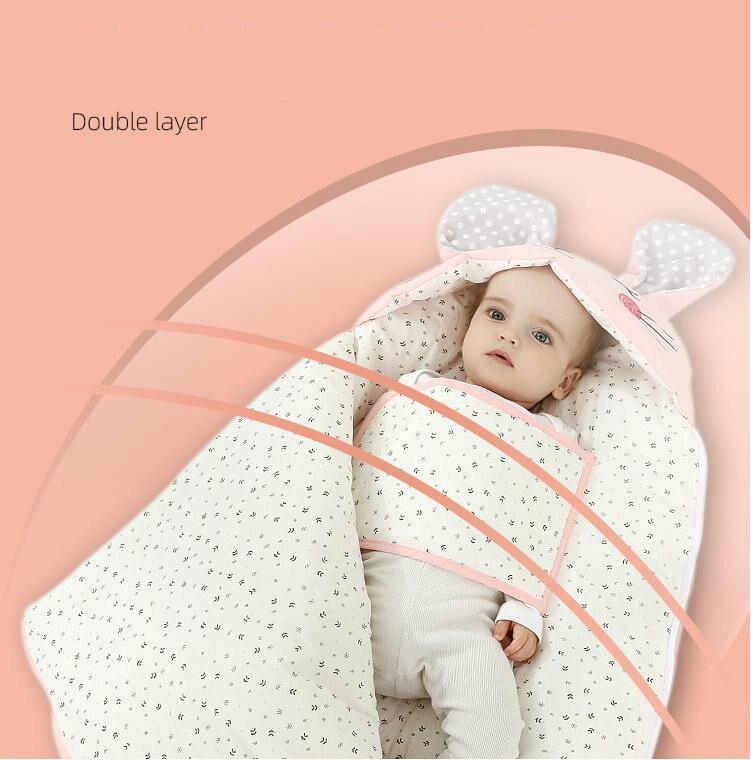 [С термометром] спальные мешки для новорожденных, для детей 0 6 месяцев, Детские спальные мешки, хлопковое плотное постельное белье, детские теплые мешки на молнии
