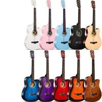 38 Inch Guitar Acoustic Guitar Concert 6 String Guitar Folk Basewood Guitar Beginner Guitarra Gift AGT184
