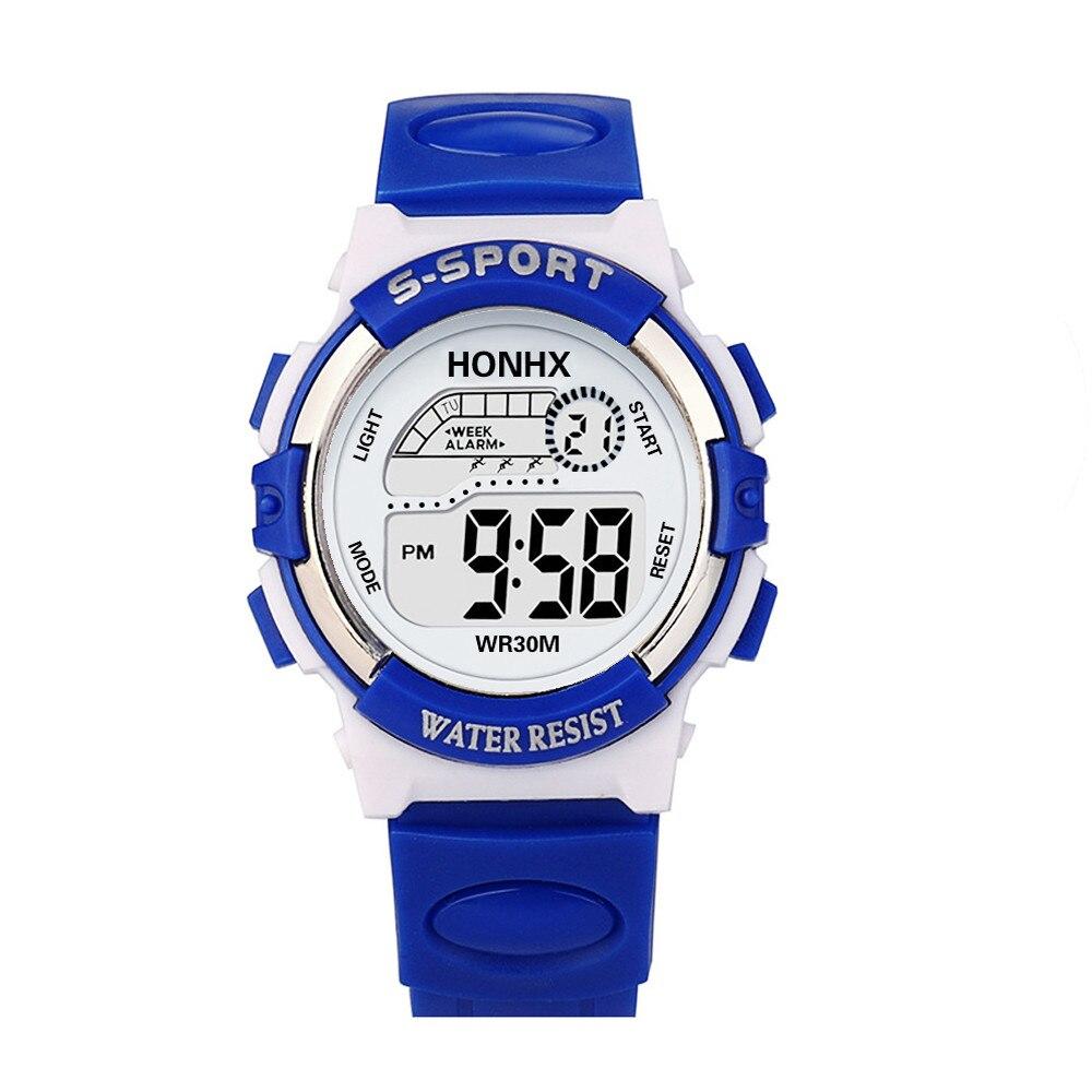 Fashion Child Digital LED Analog Quartz Alarm Date Sports Wrist Watch