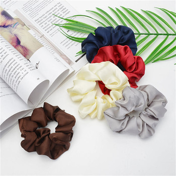 1 PC Scrunchies Hair Ring Candy Color Hair Ties Rope Autumn Winter Women Ponytail Hair Accessories Girls Hairbands Gift image