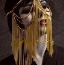 Máscara egipcia mostrar máscara de Mujer Accesorios Steampunk Overwatch Cosplay Festival Rave traje máscaras de pestañas Toda La Cara Sexies 2020