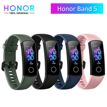 Original Honor Band 5 Smart Armband Männer Frauen Oximeter Touchscreen Magische Farbe Herz Rate Erkennen Schlaf Nickerchen Honor Band 5