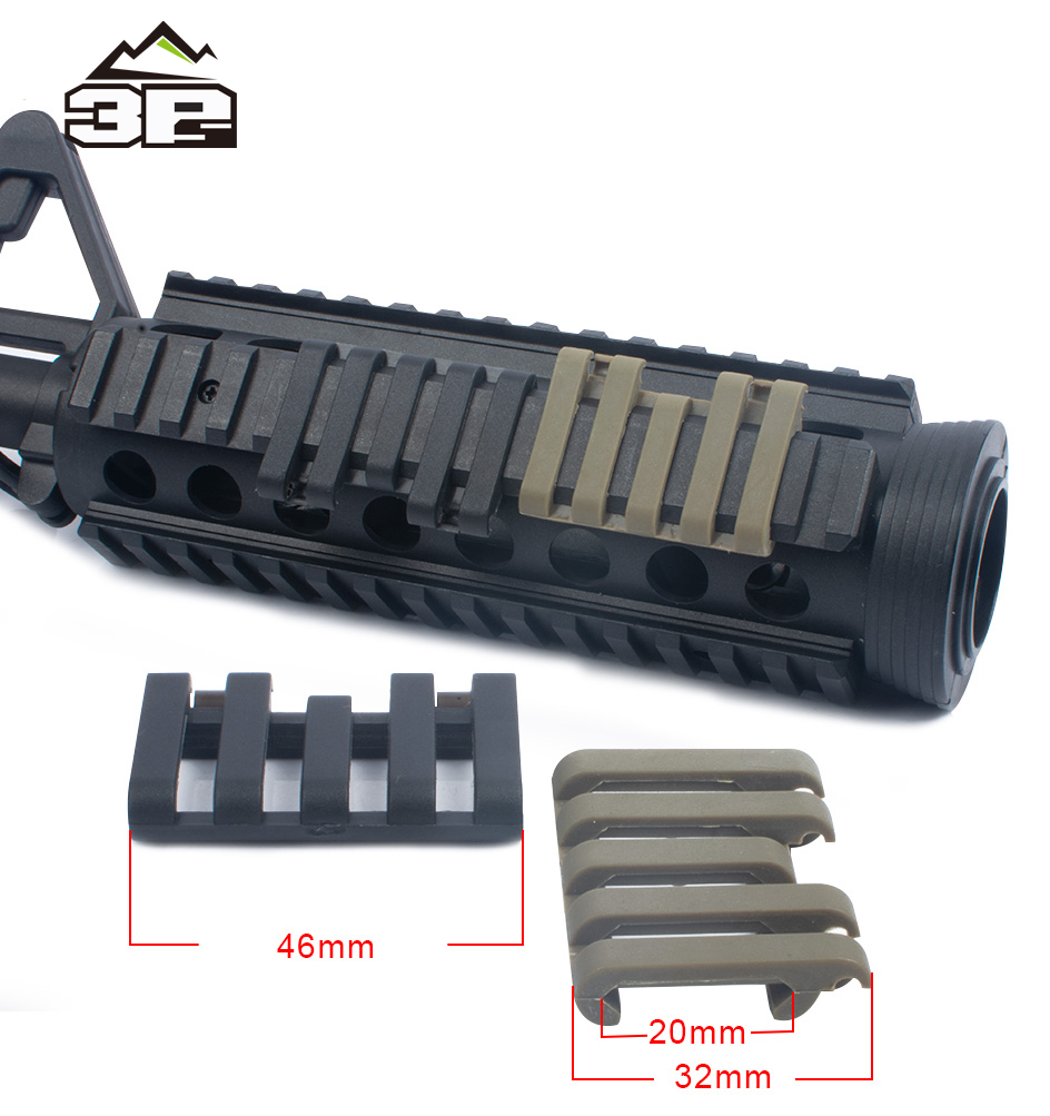 Tactical Rails Cover Rail Cover With Wire Loom 5-slot Airsoft Wire Loom Flashlight Accessories Mount MP02007