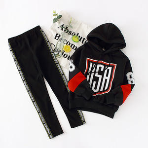 Image 3 - Girls Clothes Sets Hoodies Legging Suits 6 8 10 Years Kids Outfit Spring Autumn Children Clothing