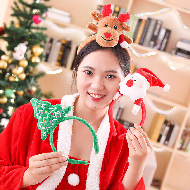 Christmas Children's Headband Moose Horn Tiara 2019 European And American Christmas Headband Dress Up Halloween Party Toys
