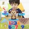 Montessori matematik maç oyun tahtası oyuncaklar maymun köpek dengeleme ölçeği dengesi oyunları bebek eğitici oyuncak