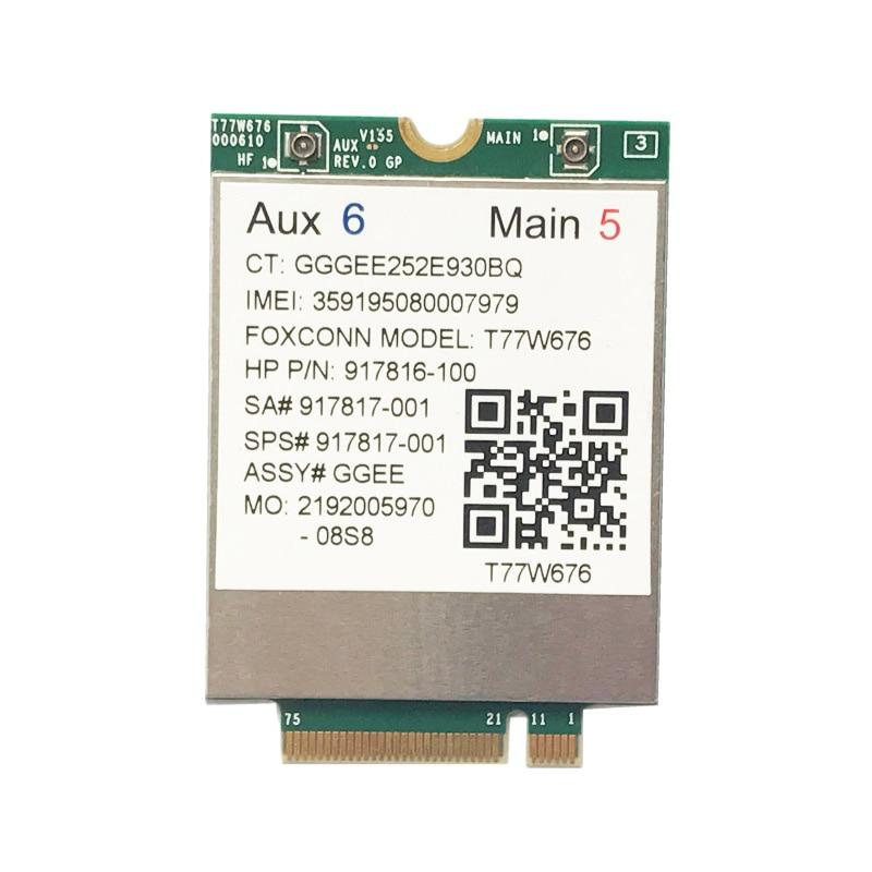 Lt4220 X12 LTE T77W676 917817-100 4G WWAN M.2 450Mbps LTE Modem For Elite X2 1030 G3 EliteBook X360 1030 G3
