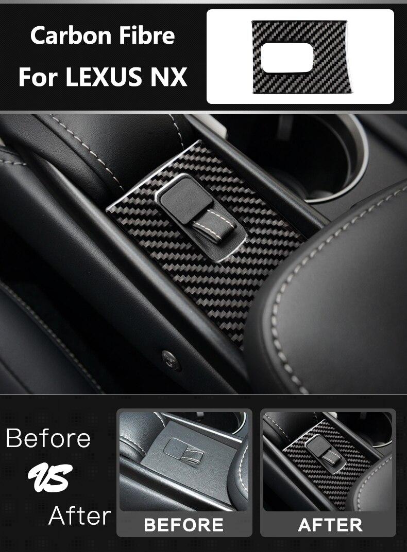 LEXUS NX SUV FIBRE DE CARBONIO PEGATINAS travesaño de la puerta 2014-2019