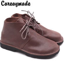 Careaymade-Genuine leather Autumn and Winter  New Fashioned Womens Shoes, Round Head Shoes,Leisure Handmade casual Boots