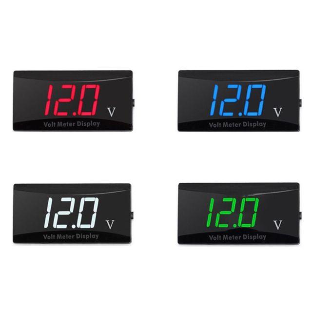 2021 새로운 12V 디지털 LED 디스플레이 전압계 전압 게이지 패널 미터 크루즈 자동차에 적합