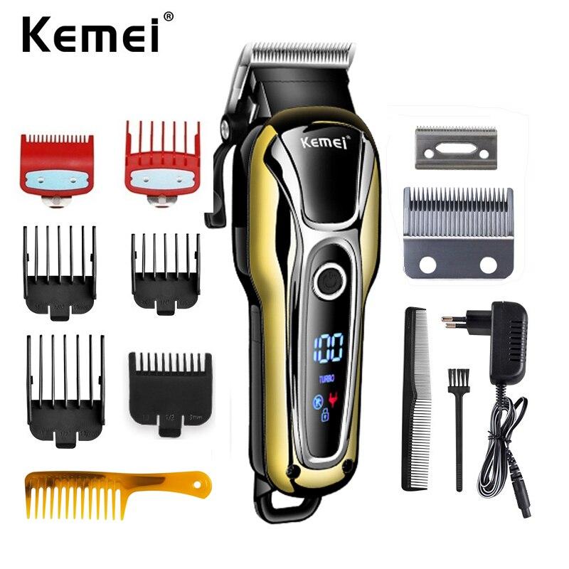 Kemei 1990 recarreg vel clipper aparador de cabelo profissional dos homens barbeador el trico barbeiro m