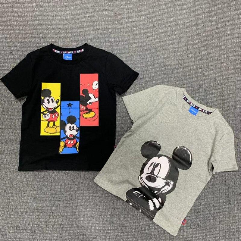 Children's Clothing Short-sleeved T-shirt European And American Cartoon Anime Cute Mickey Boy Girl T-shirt Undershirt Clothing