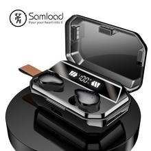 Bluetooth 5.0 イヤホン真ワイヤレスイヤフォン IPX7 防水ステレオヘッドセット 6000 パワーバンク充電 iphone 6s 7 ソニー