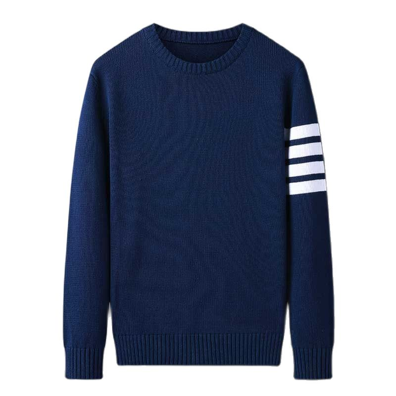 2021 Men's Fashion Sweaters Male Knitwear Sweater Warm  Round Collar Cotton Casual Wool Pullovers Mens Brand Plus Size 3XL