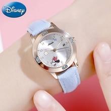 Minnie Girl Calendar Crystal Jewelry Soft Strap Watch Women Gift Quartz Cute Watches Child Kids Clock Kol Saati Relogio Feminino